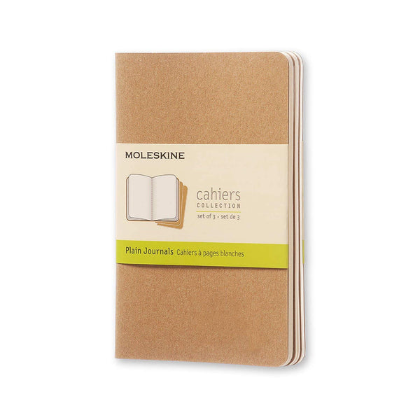 Pocket-Sized Plain Journal, Set of 3