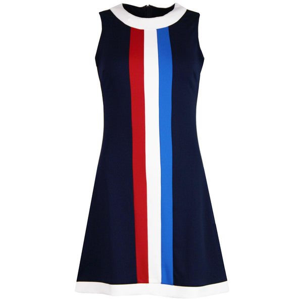 Polly Stripe Sleeveless Mini Dress