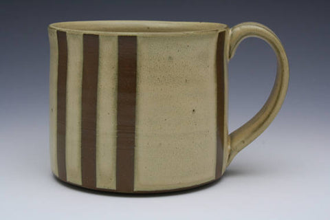 Vertical Stripe Mug Yellow