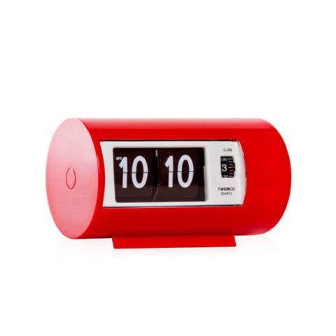 Retro Flip Clock with Alarm Red
