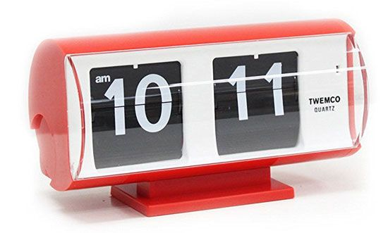 Retro Flip Clock Red