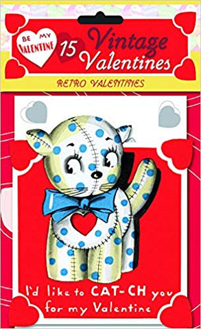 15 Vintage Valentine Cards Kitty