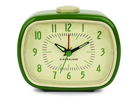 Retro Alarm Clock Green
