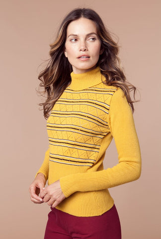 Roxy Turtleneck Sweater Yellow