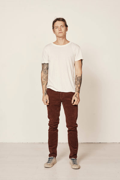 Tim Slims Burgundy Corduroy Pants