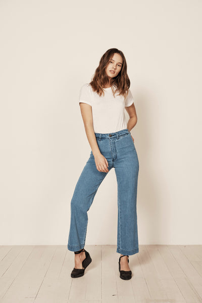 Slim Sailor Pant Washed Denim