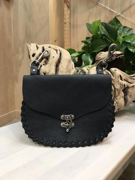 Sadie Clip Leather Hip Bag