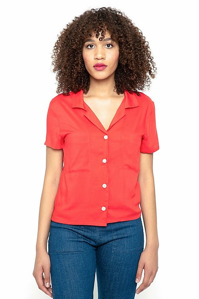 Sarah Blouse in Tomato
