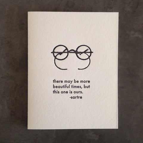 Sartre Quote Card