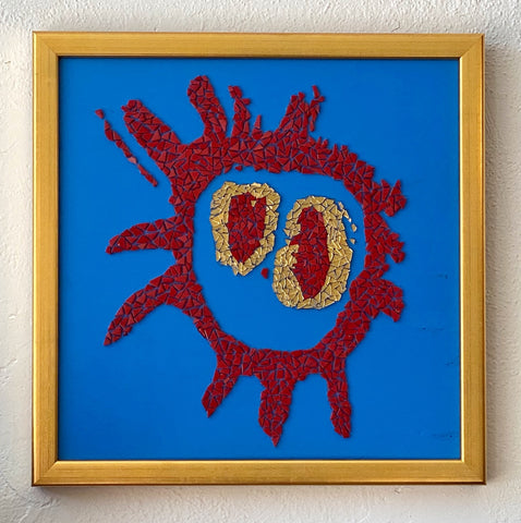 Screamadelica Primal Scream Mosaic Tile Art Framed
