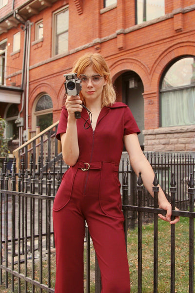 The California Shake Jumpsuit Burgundy