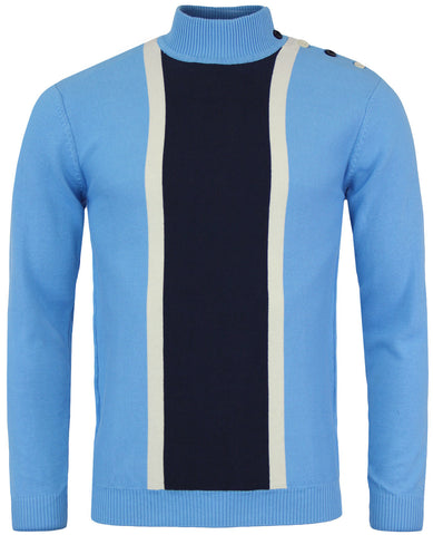 Columbia Turtleneck Jumper Sky Blue