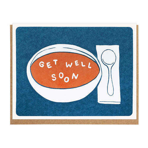 Get Well Soon Soup Greeting Card