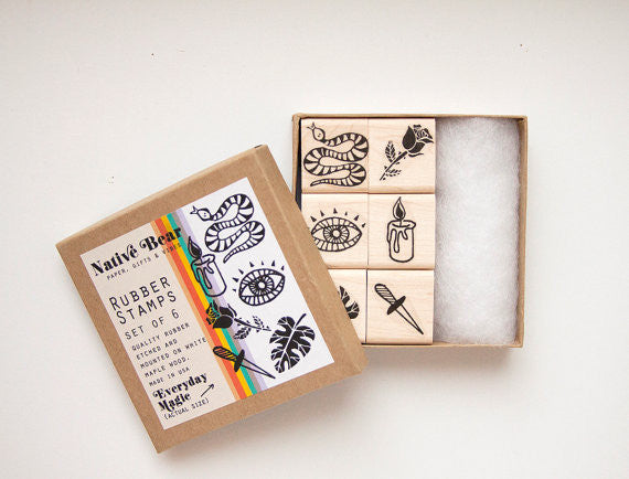 Everyday Magic Rubber Stamps Set