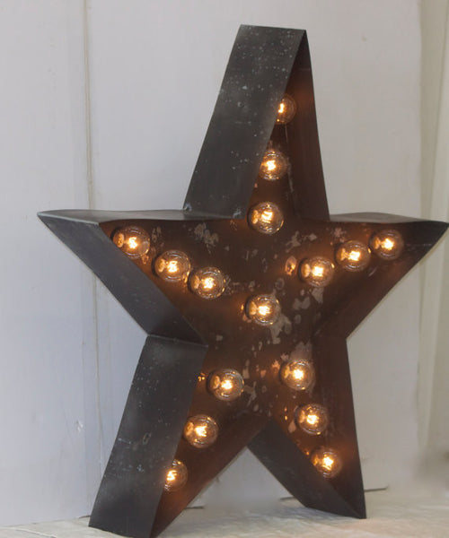 "Marquee 12"" Rusty Star Metal Sign"