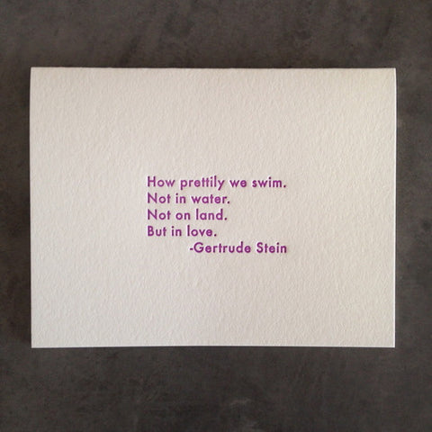 Gertrude Stein Love Quote Card