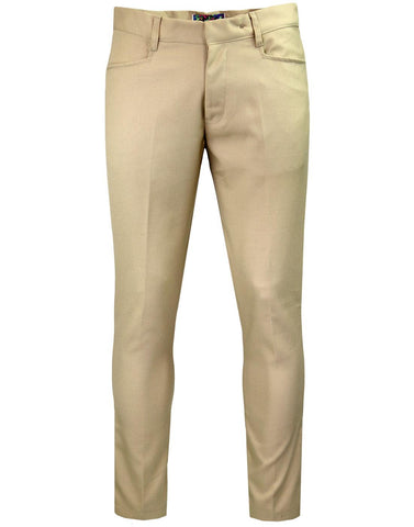 Logan Slim Trousers Stone