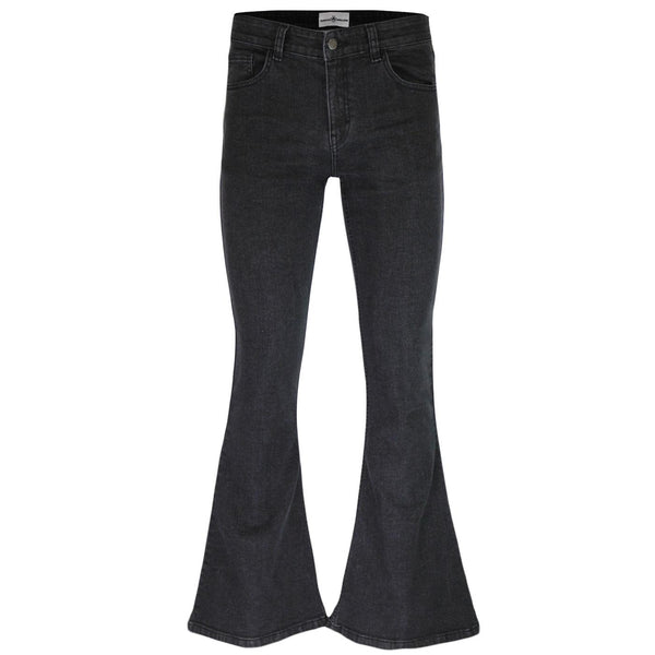 Rock Flare Stretch 70's Jeans Black Stonewash