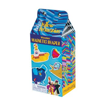 Beatles Yellow Submarine Wooden Magnetic Shapes