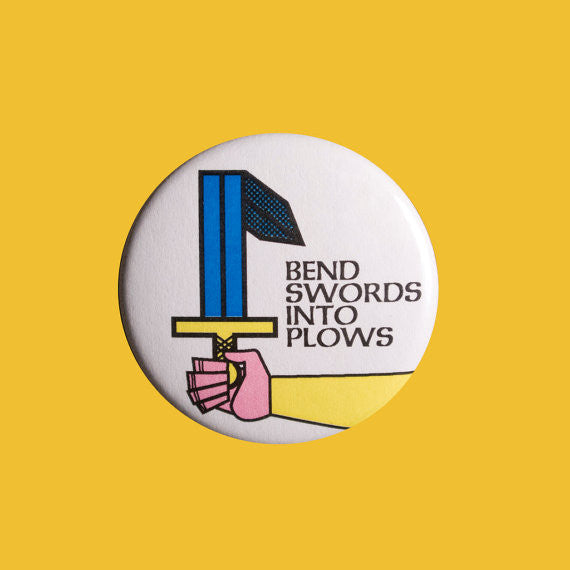 Swords Into Plows Button Badge