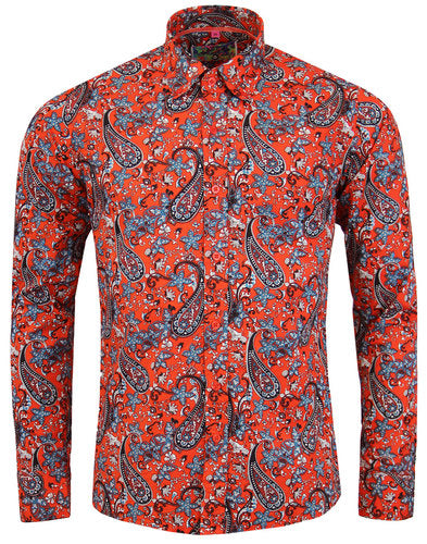 Tabla Paisley Psych Shirt Red