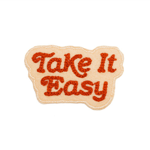 Take It Easy Chain Stitched Patch Blush