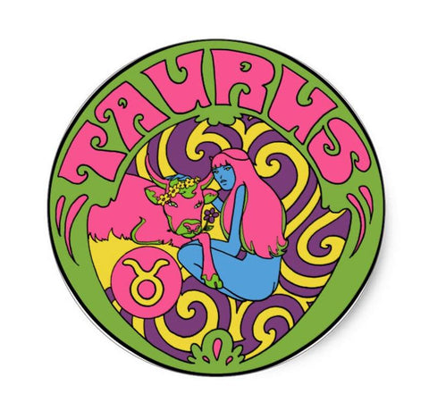 Taurus Zodiac Sticker 3""