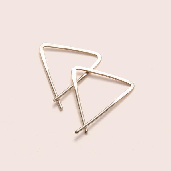 Teepee Yellow Gold Earrings