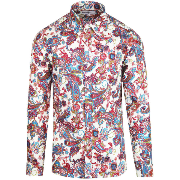 Trip Paisley Mod Psychedelic Shirt