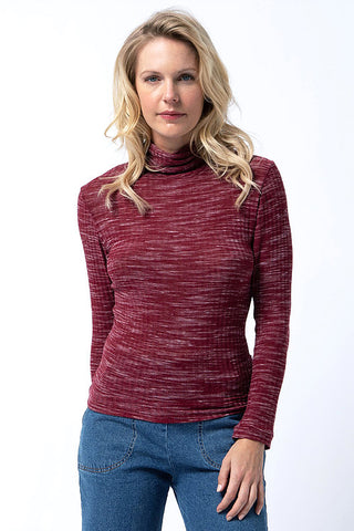 '70s Turtleneck in Burgundy Heather