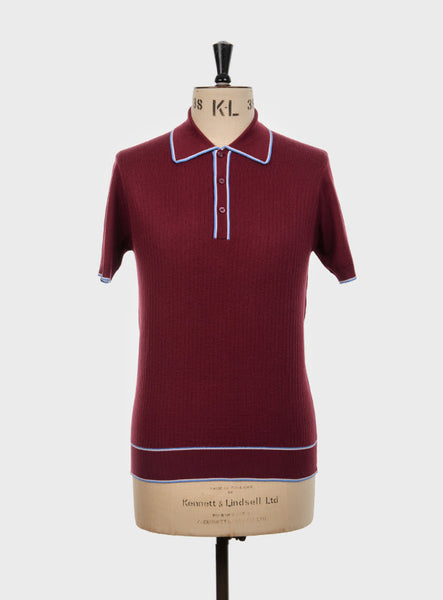 Woody Knitted Polo Shirt Wine