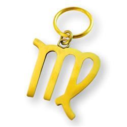 Brass Zodiac Key Ring Virgo
