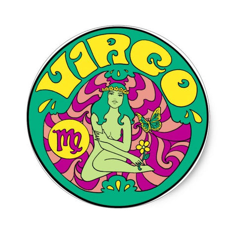 Virgo Zodiac Sticker 3""