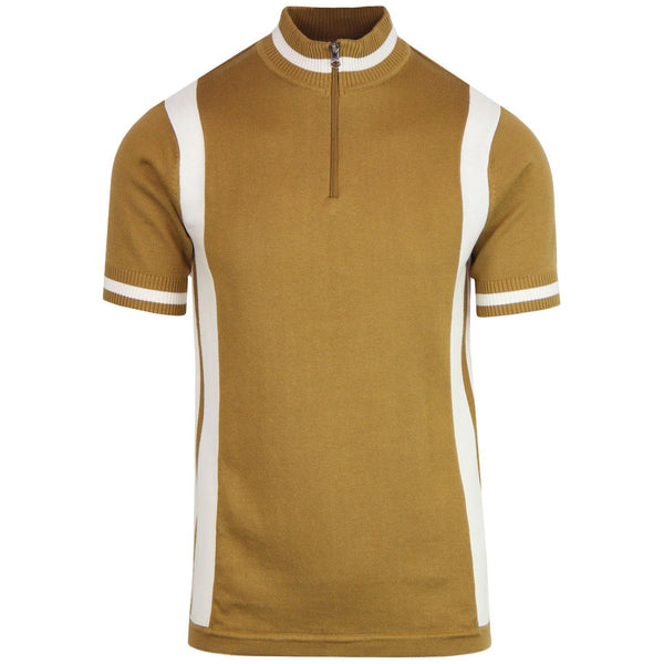 Vittese Retro Cycling Shirt Caramel