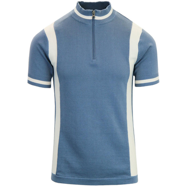 Vittese Retro Cycling Shirt Flintstone Blue