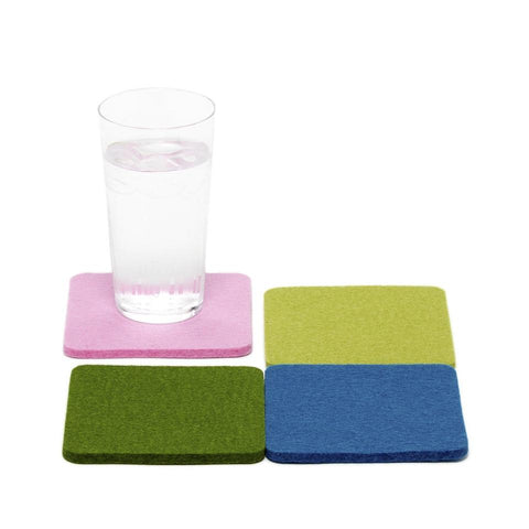 Square Felt Water Lily Coaster 4 pack