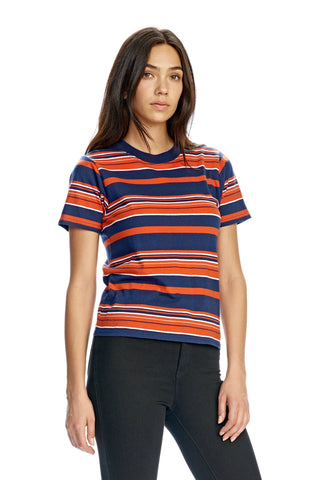 Wednesday Stripe Tee Navy