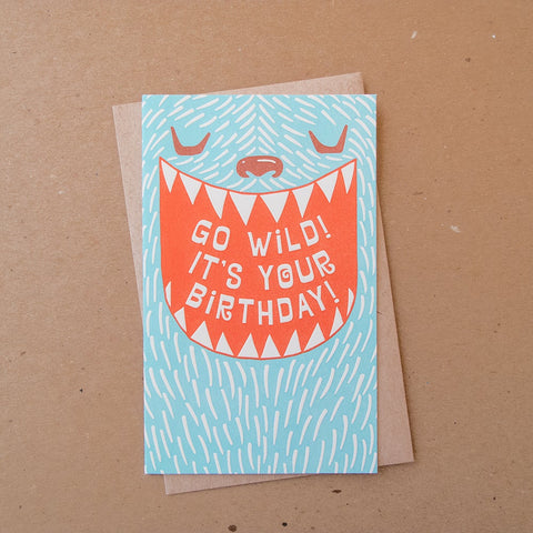 Wild Monster Birthday Card