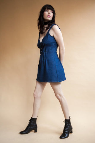 Woody Dress Dark Denim