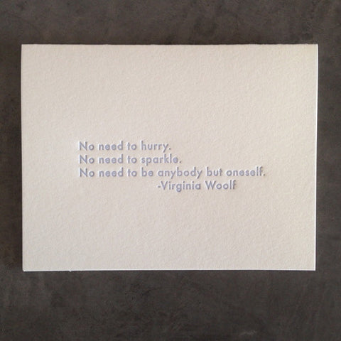 Virginia Woolf Quote Card