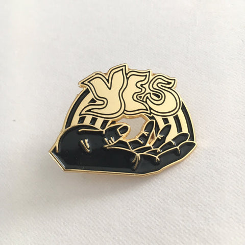 """Yes"" Lapel Pin"