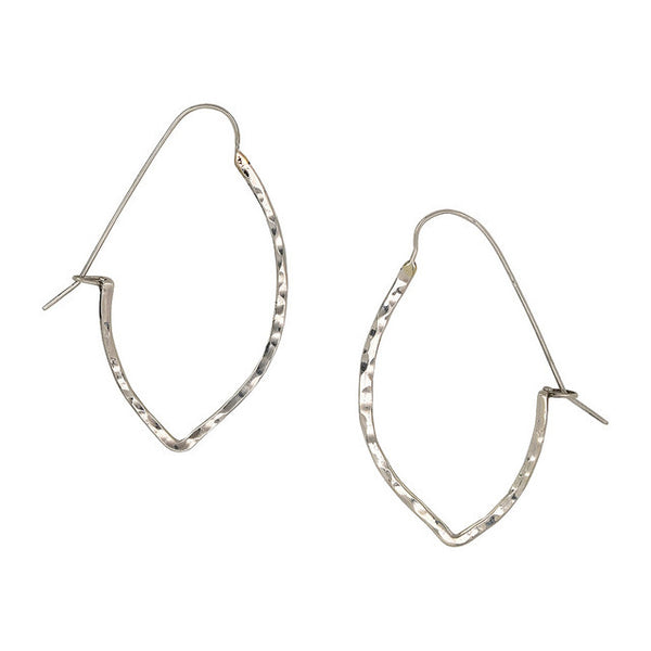 Small Arrow Hoop Sterling Silver Earrings