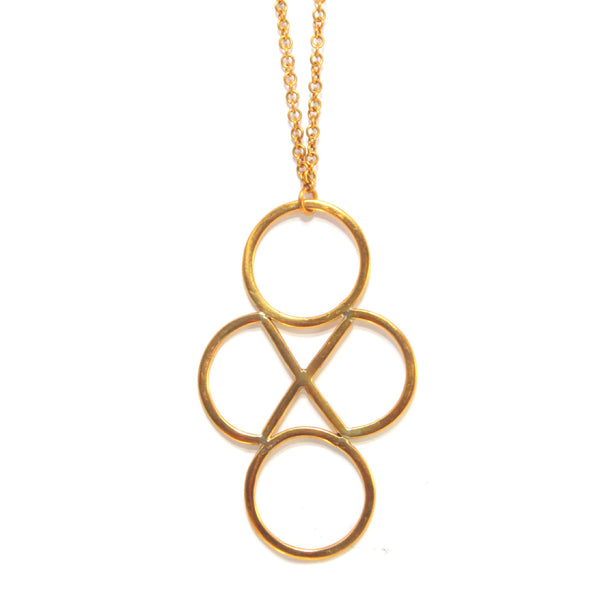 Geo Brass Necklace
