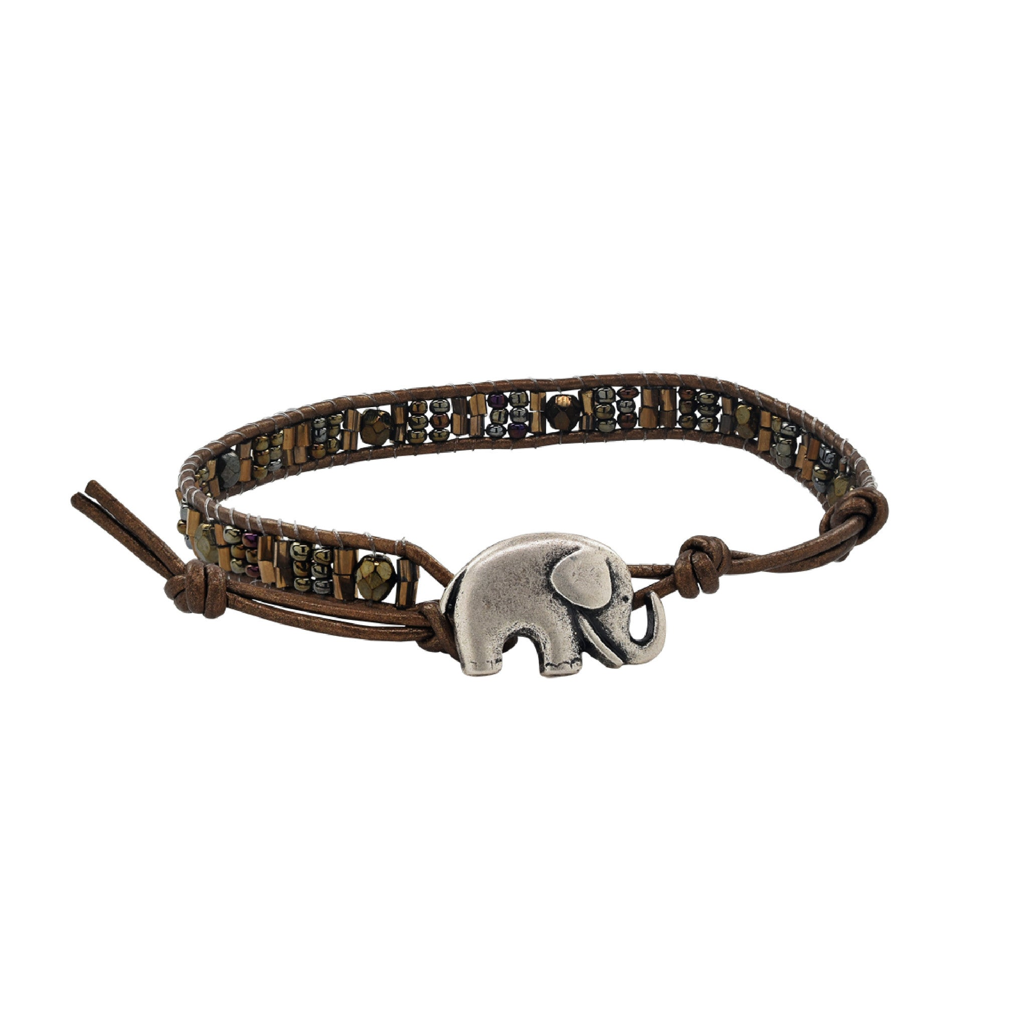 Kenya Elephant Single Wrap Bracelet
