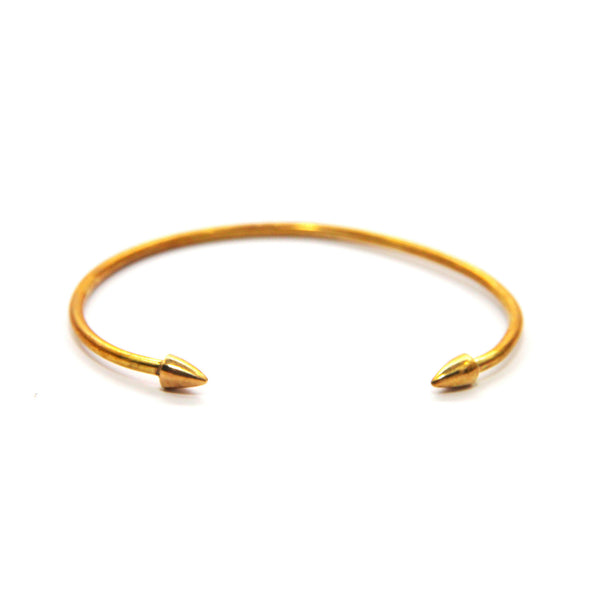 On Point Brass Cuff Bracelet