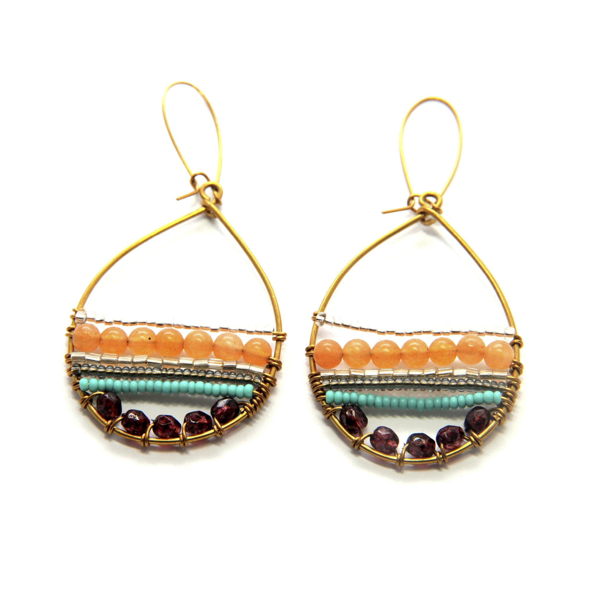 Merina Jade Tapestry Hoop Earrings