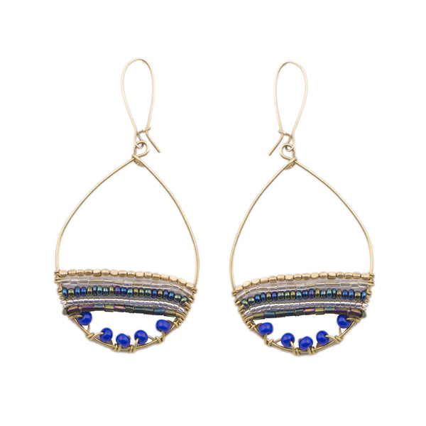 Merina Hoop Royal Earrings