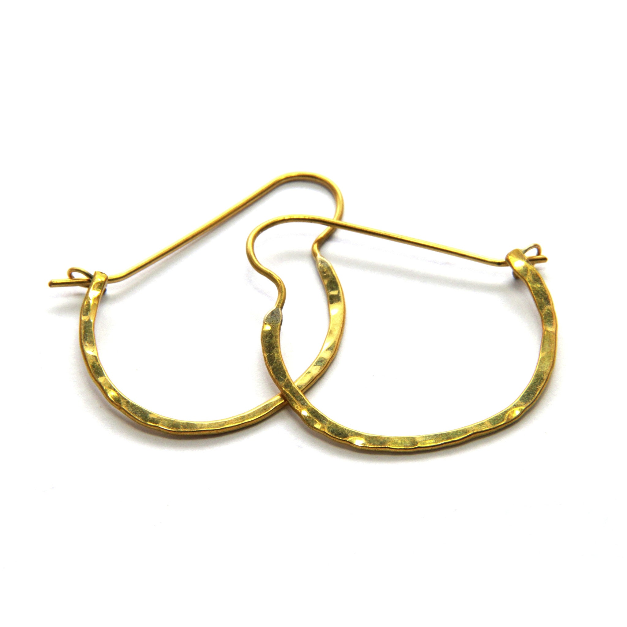 Large Sasa Hoop  Brass Earrings