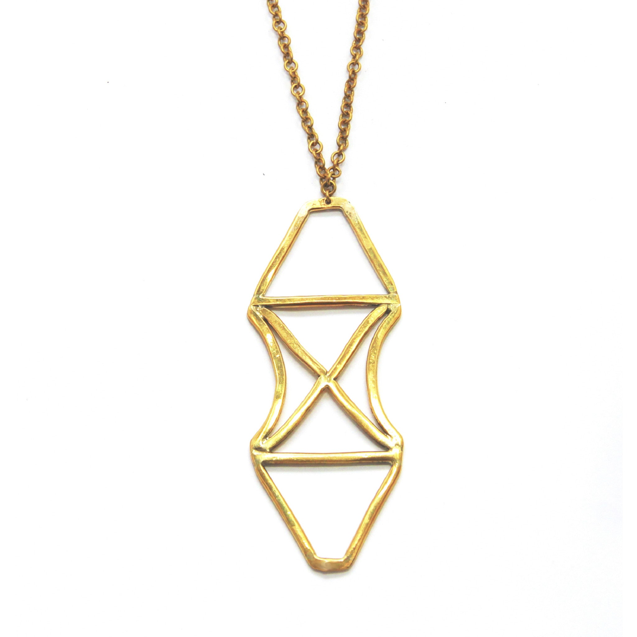 latitudestore necklace products chevron brass