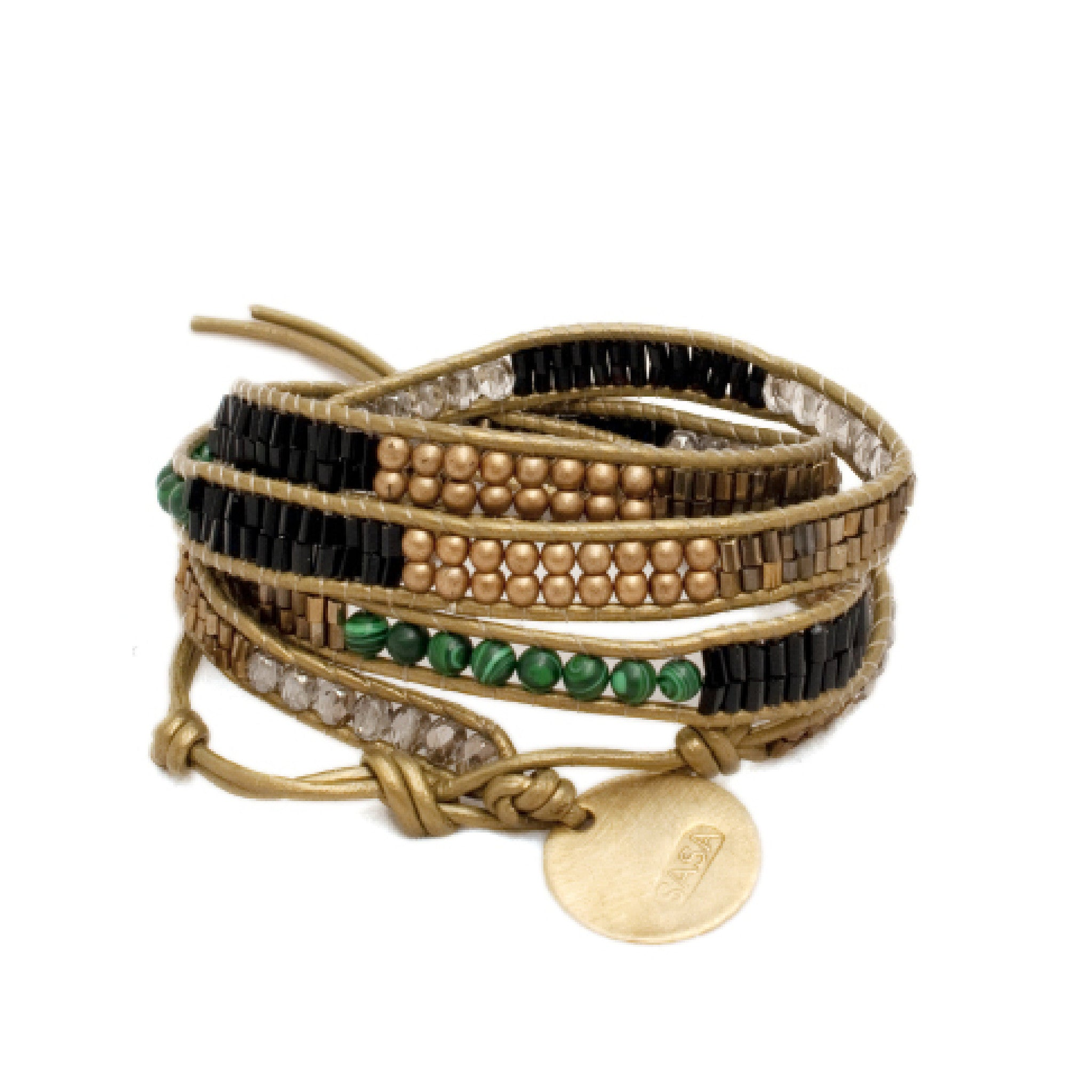 Malachite 4x Wrap Bracelet